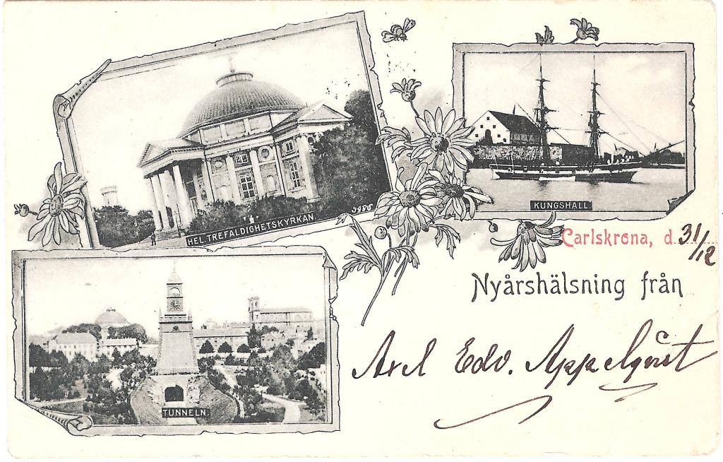 Nyårshälsning år 1900