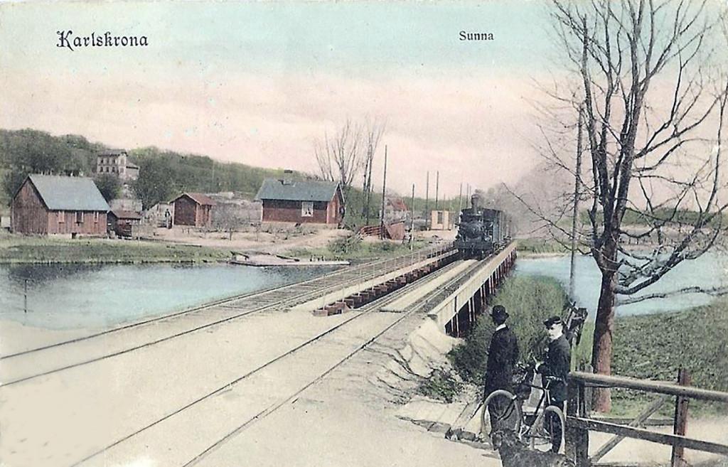 Järnvägsbron vid Sunna