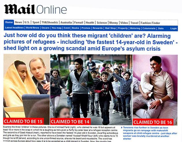 Daily Mail om naiva Sverige