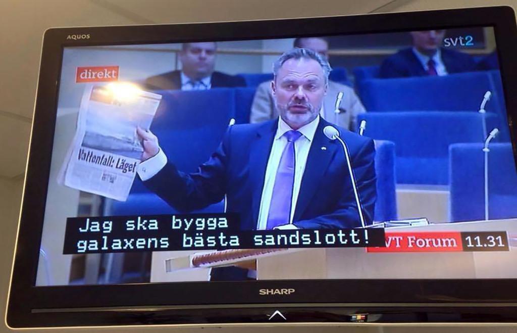 Texter från barnprogram kom som undertexter i partiledardebatten