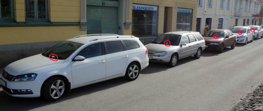 Fem parkeringsböter i rad