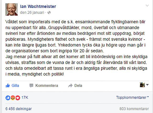 Ian Wachtmeister om ensamkommandebluffen
