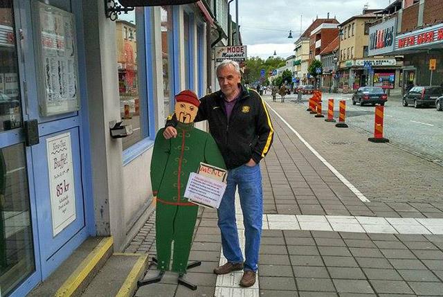 Träffade en trevlig kines på Kungsgatan i Ronneby