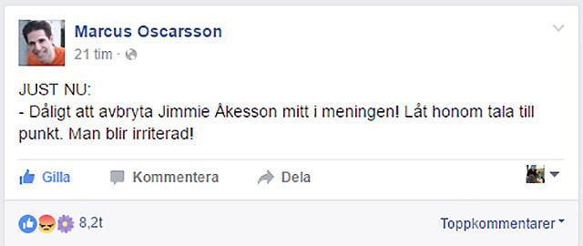 Marcus Oscarsson reagerar
