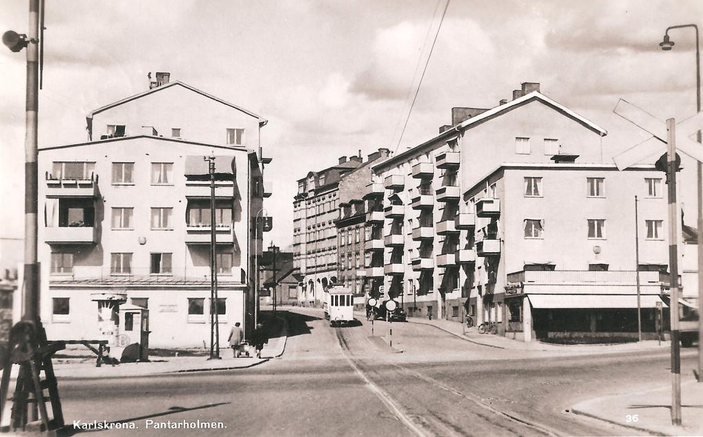 Landsvägsgatan med spårvagn