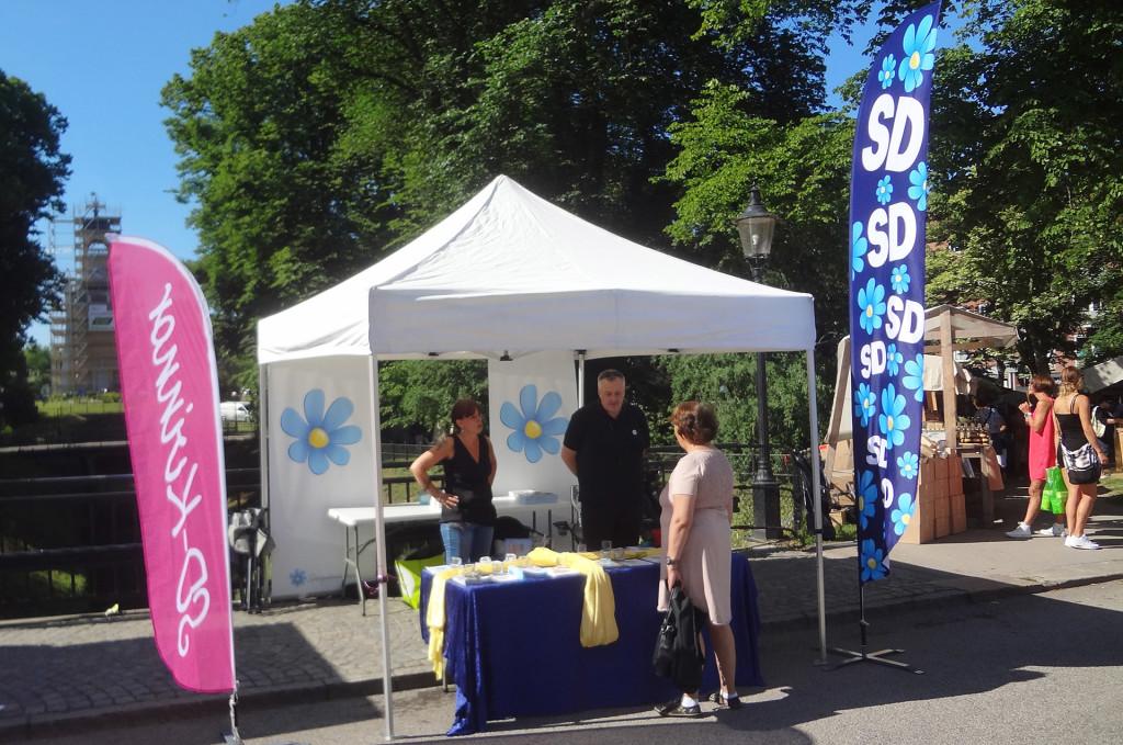 Sverigedemokraterna på Lövmarknaden 2016