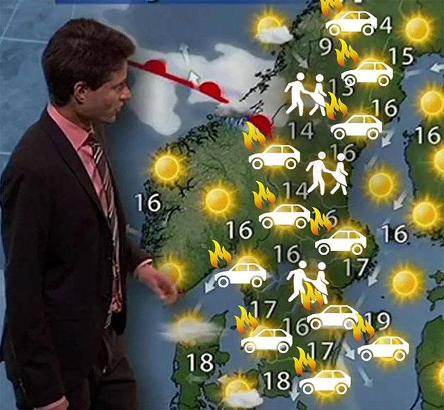 Dagens väderrapport...