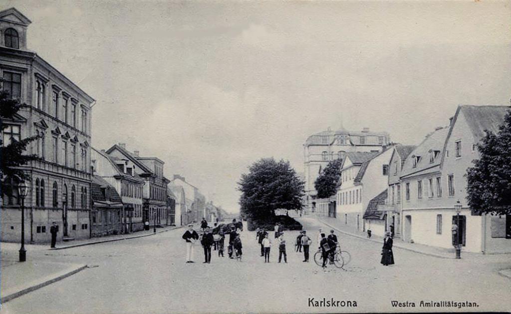 """""""Westra Amiralitätsgatan"""" 1905"""
