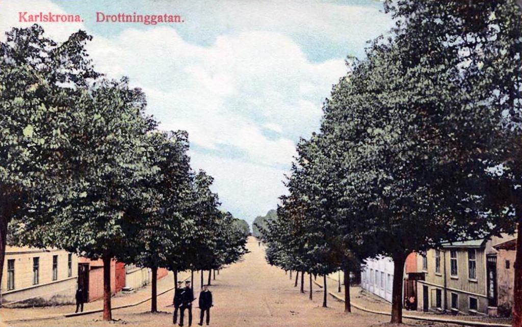 Drottninggatan omkring 1915
