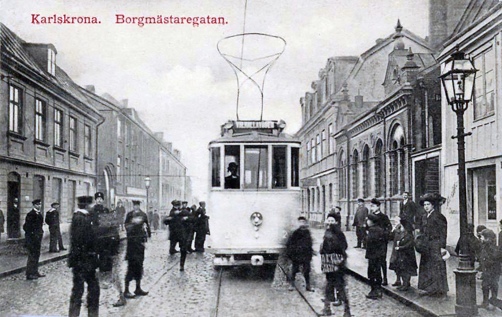 Provkörning av spårvagnarna den 7 december 1910