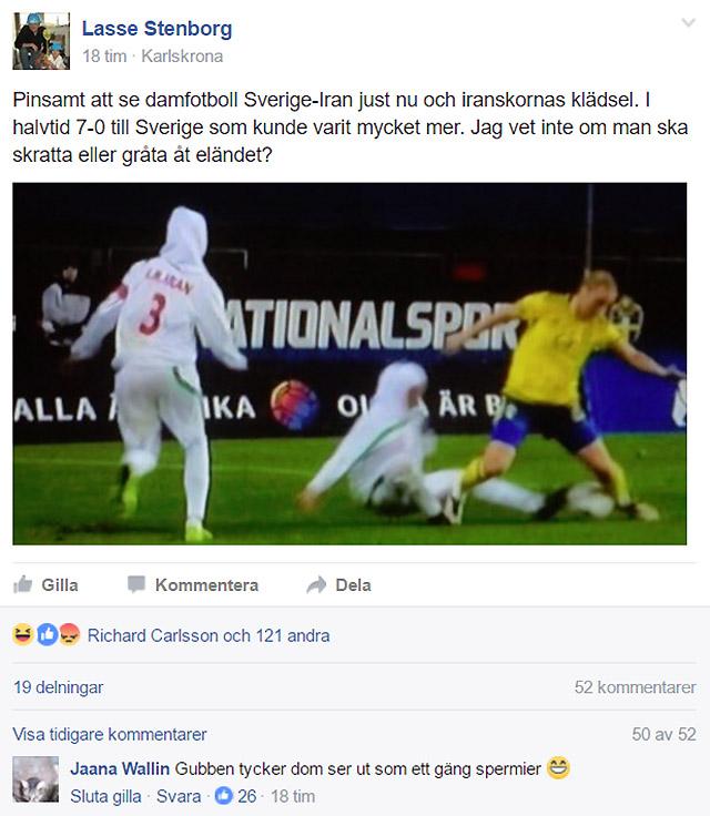 Pinsam fotboll Sverige-Iran