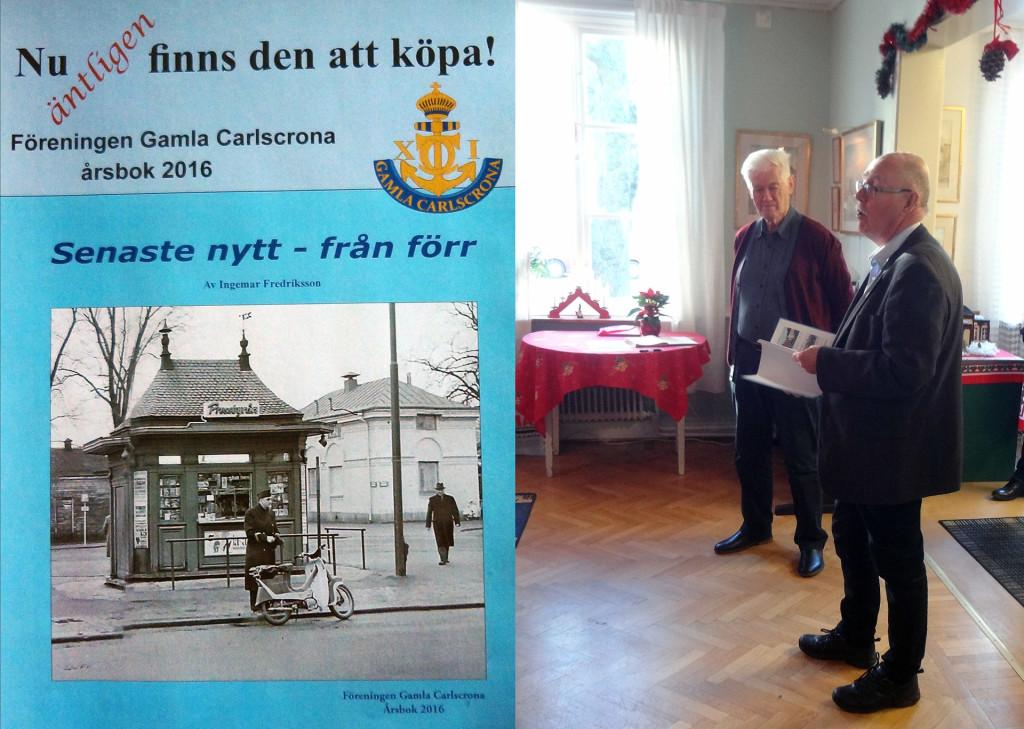 Gamla Carlscronas årsbok 2016 presenteras