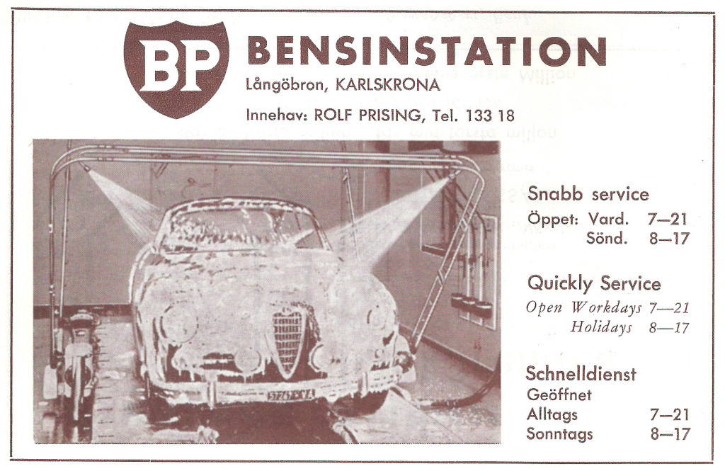 """BP bensin"" vid Långöbron"