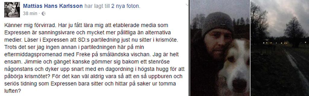 Förvirrad Mattias Karlsson