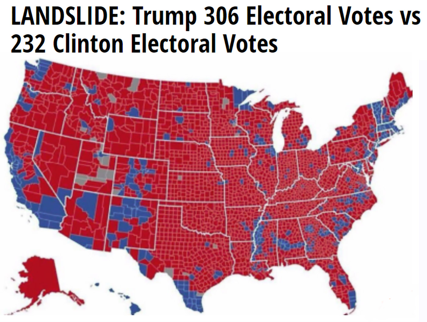 Trump 306 vs. Clinton 232
