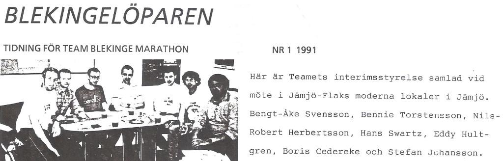Team Blekinge 25 år idag