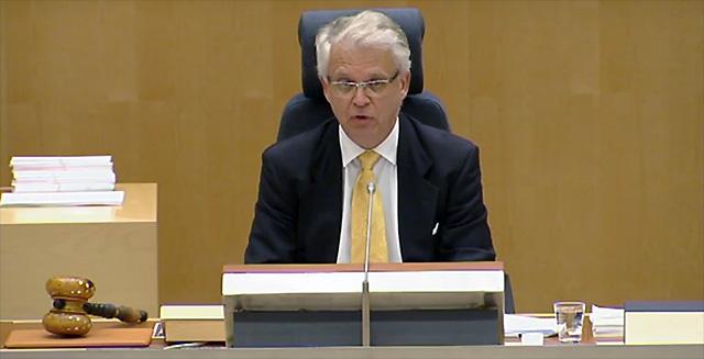 """Herr ålderspresident"" Tuve Skånberg (KD)"