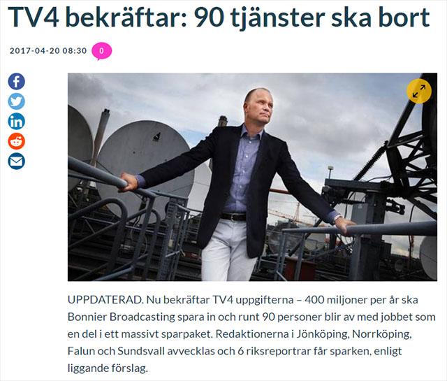 Goda nyheter om TV4!