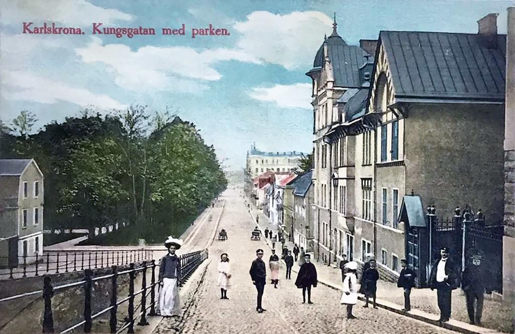 Norra Kungsgatan med parken