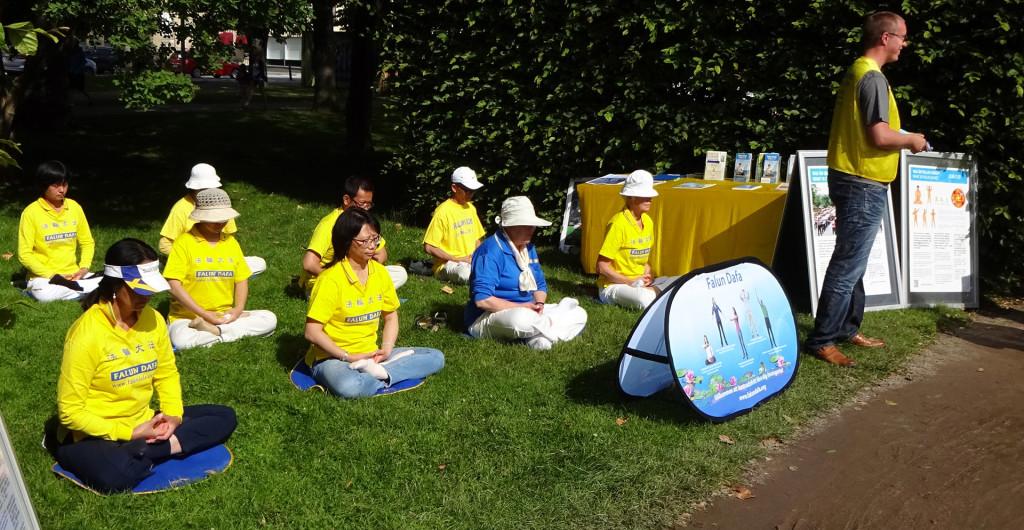 """""""Falun Gong"""" i Hoglands park"""