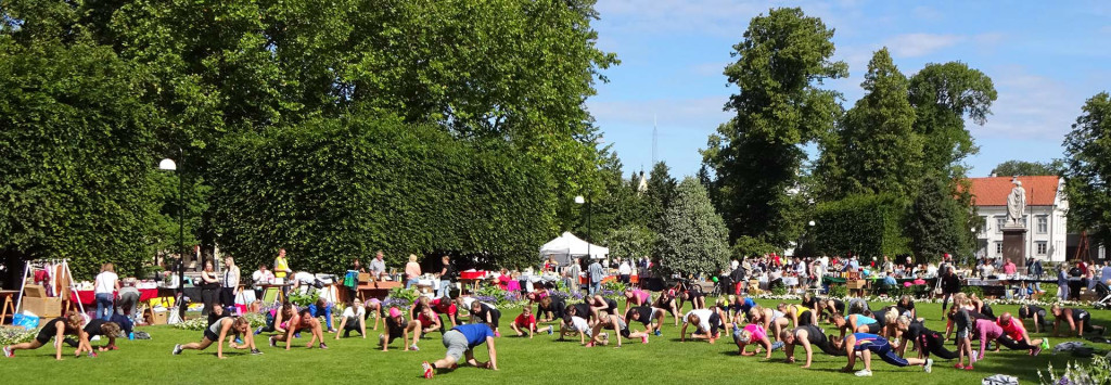 Sommarträning i Hoglands park 2017