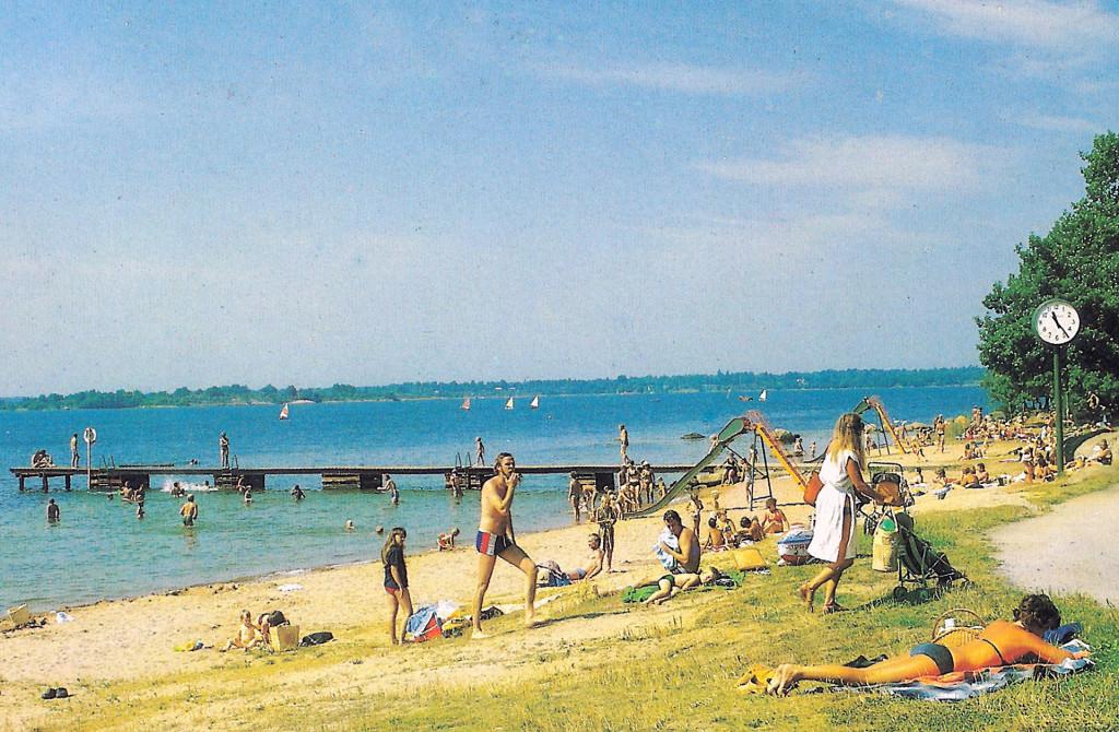 Saltö badstrand cirka 1980