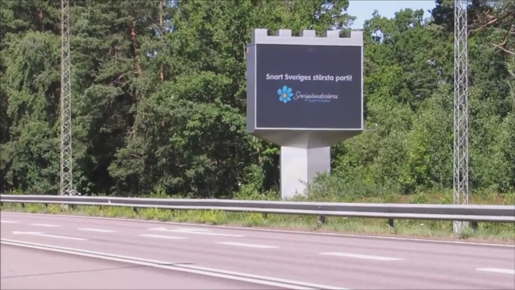 Reklam för SD i Kalmar