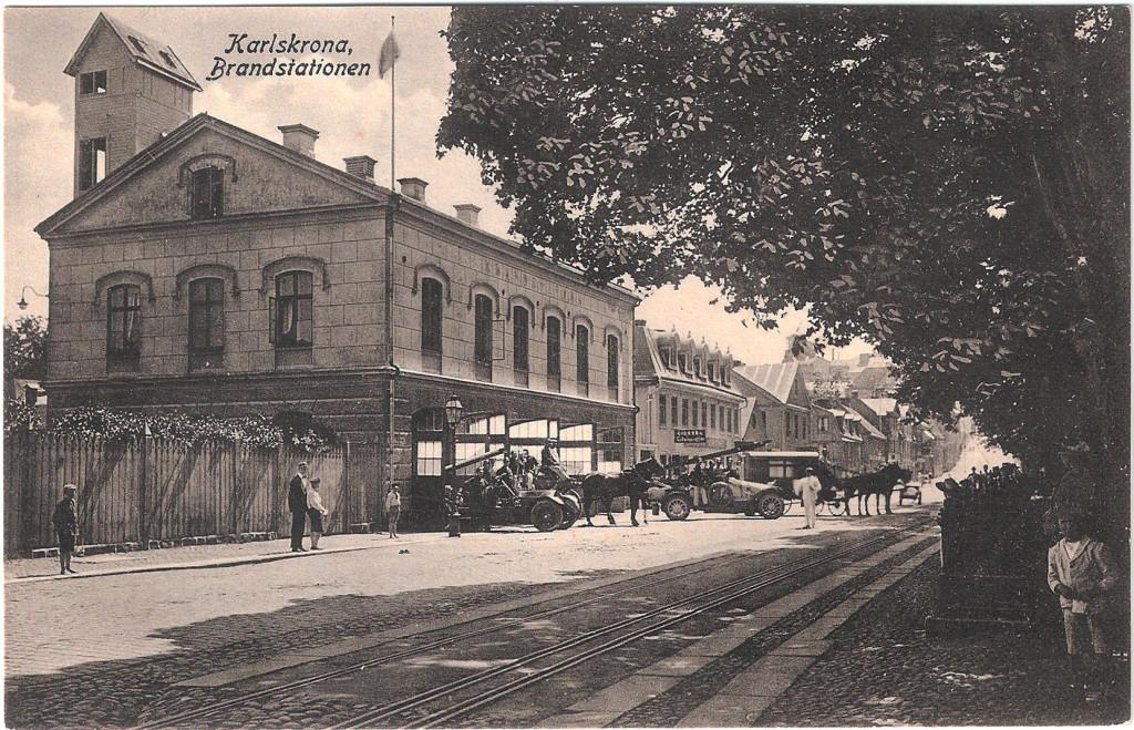 Karlskrona Brandstation 1915