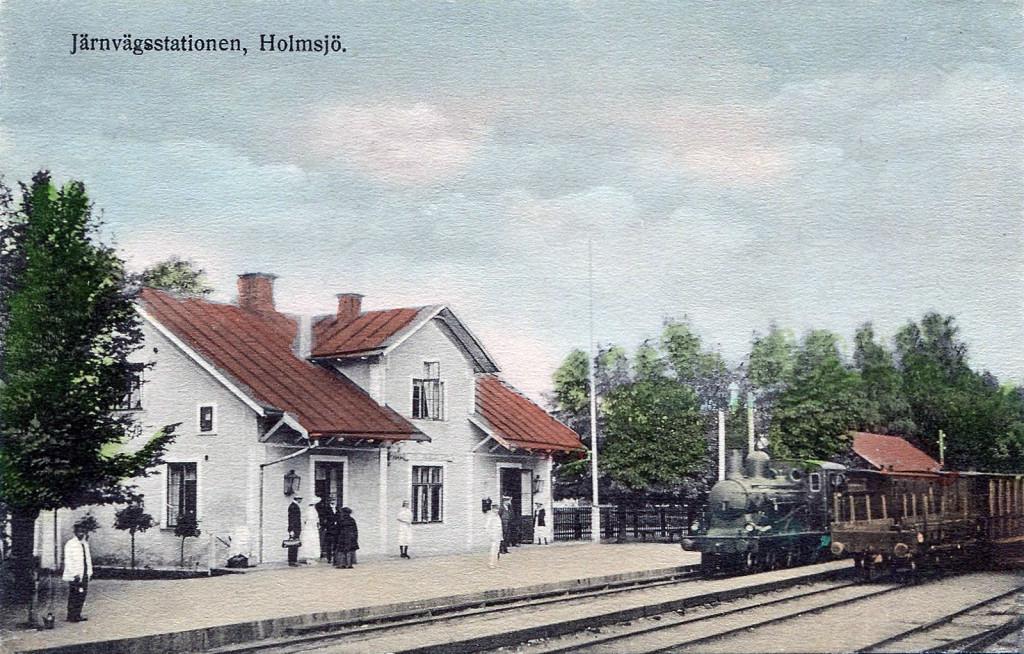 Järnvägsstationen i Holmsjö