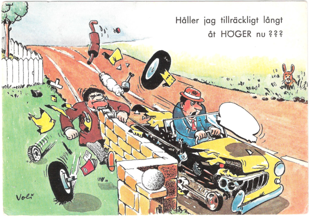 50 år sedan högertrafiken