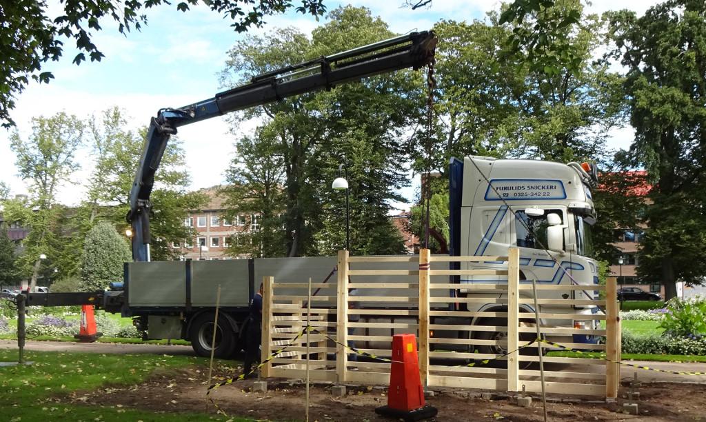 De nya bersåerna i Hoglands park