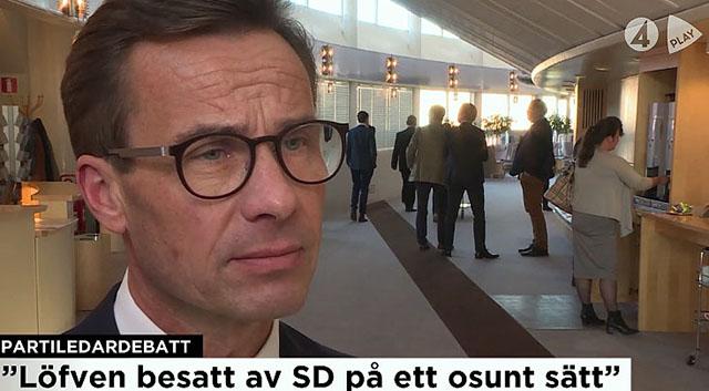 Ulf Kristerson (M) om statsminister Stefan Löfvén besatthet av Sverigedemokraterna