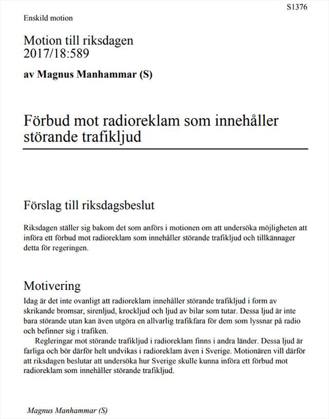 På tal om Magnus Manhammar (S)