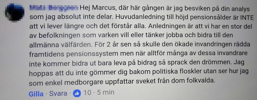 Marcus Oscarsson censurerar