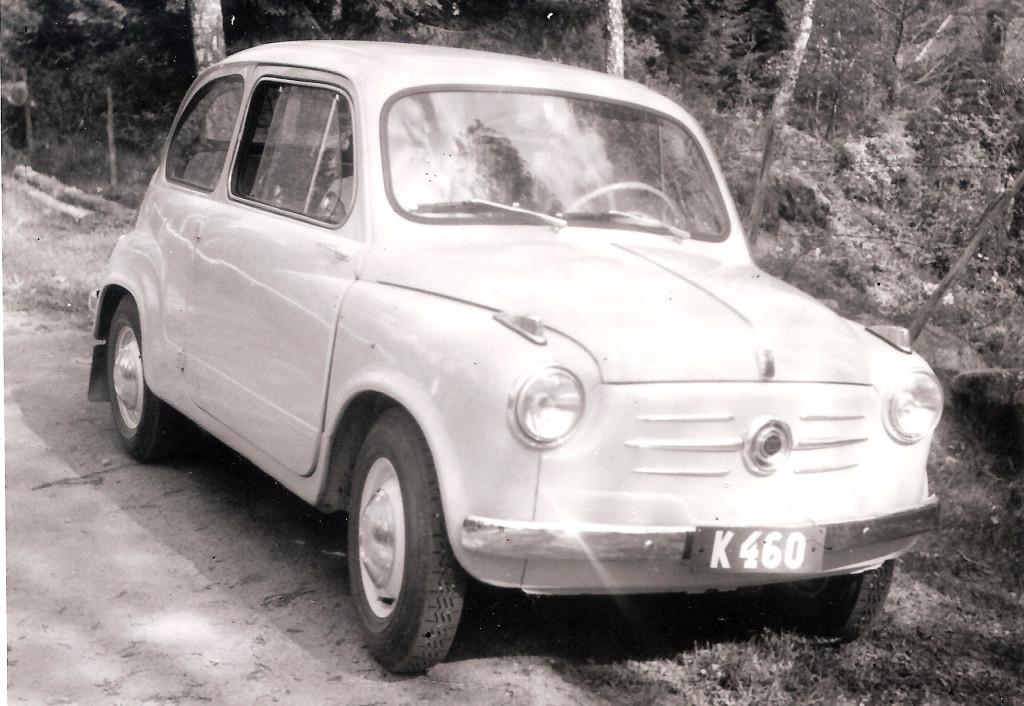 En ny Fiat 600 år 1956