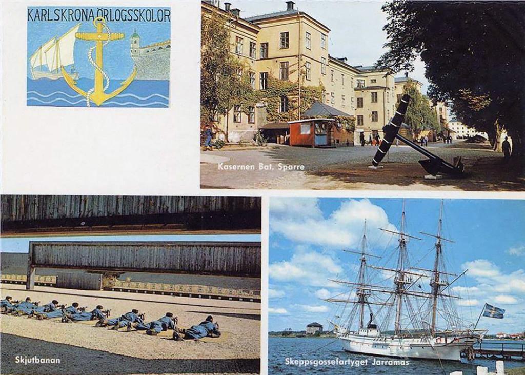 Karlskrona Örlogsskolor omkring 1970