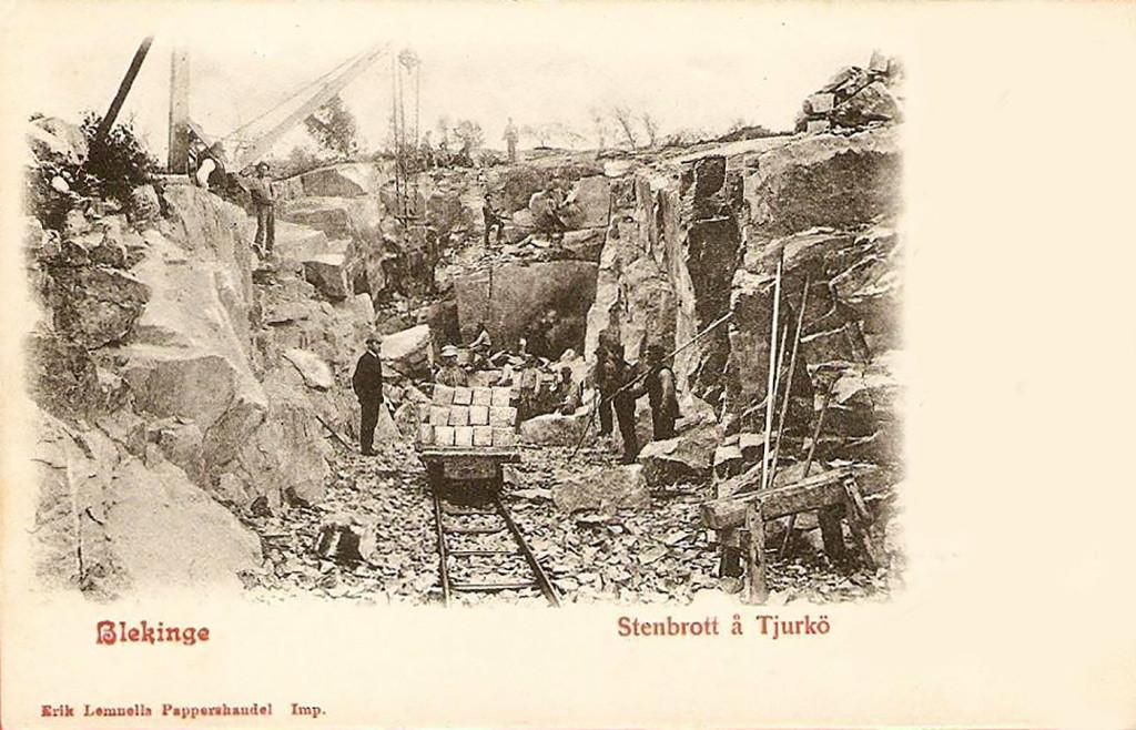 Stenhuggare på Tjurkö