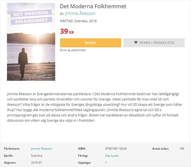 """""""Det moderna folkhemmet"""" av Jimmie Åkesson"""