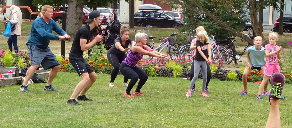 Dagens gympa i Hoglands park 2018-07-03