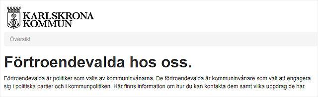 Alla förtroendevalda i Karlskrona kommun