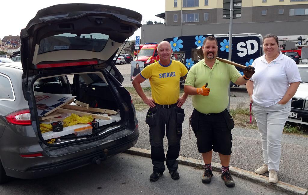 Återställning av valplakat på Saltö