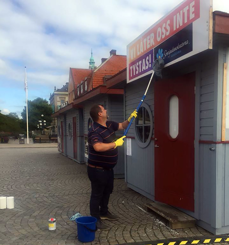 Sabotage mot SD Karlskronas valstuga