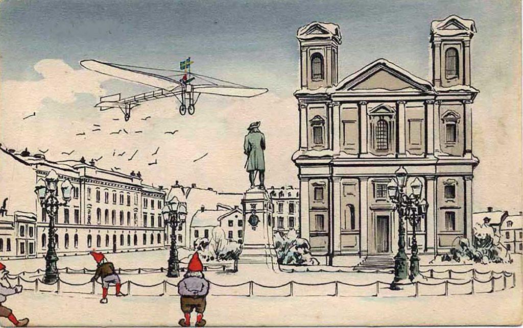Julflygning över Stortorget