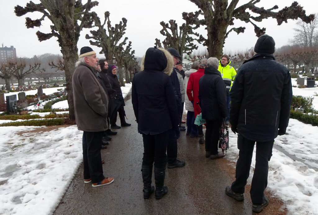 Kyrkogårdsförvaltningen på Vämö onsdagen den 6 februari 2019