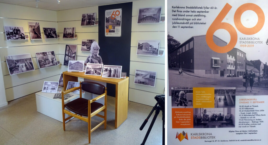 Karlskrona Stadsbliotek fyller 60 år