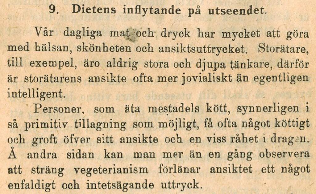 Diet och utseende 1902