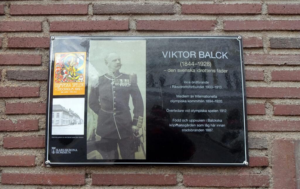 Minnestavla för Victor Balck