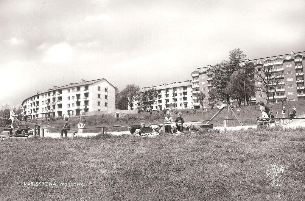 Härlig lekplats på Marieberg